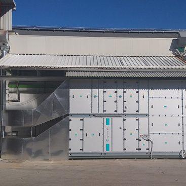 V-Tisk - izvedba prezračevanja skladiščno proizvodnih prostorov
