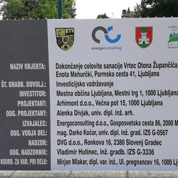Vrtec Ljubljana - energetska sanacija